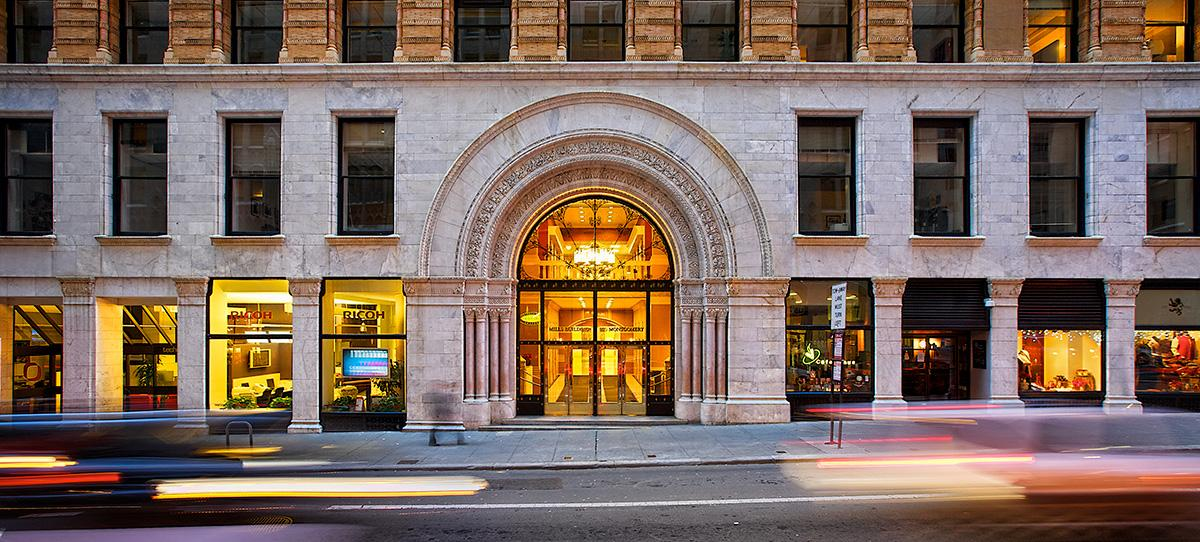 A combination of historic prominence and modern amenities in San Francisco's Financial District.